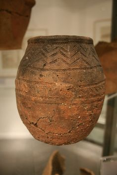 TREVISKER-STYLE URN (2000-1600BC): found at St Keverne, Cornwall covered by a large flat stone and containing human bone. (Penlee House Gallery and Museum, Penzance). ✫ღ⊰n