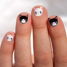 Girl's Nail Wraps - Cute Nail and Designs - Nageldesign Girls Nail Designs, Easter Nail Designs, Nail Art Designs, Nails For Kids, Girls Nails, Little Girl Nails, Nail Art Halloween, Cat Nails, Easter Nails