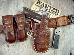 western leather holster