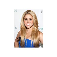 Straight Hairstyles Shakira ❤ liked on Polyvore