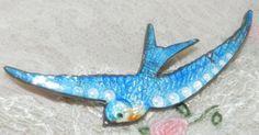 guilloche blue swallow