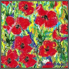 Karen`s Postcard Paintings: Sweet Poppies.