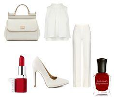 """""""In white"""" by adri-98 on Polyvore featuring Diane Von Furstenberg, Qupid, Dolce&Gabbana, Deborah Lippmann and Clinique"""