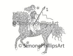 horse #SIMONEPHILLIPSART #coloringpage | Horse coloring pages ...