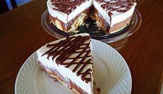 Τούρτα δίχρωμη με μπισκότα , ζαχαρούχο και μερέντα , από την  εκπληκτική Σόφη Τσιώπου και τις «Λιχουδιές της Σόφης»!!