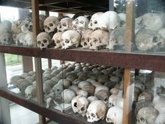 One of the most unique and disturbing monument in the world from the killing fields of Cambodia located in Phnom Penh