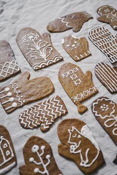 Cookie mittens! Расписные имбирные варежки!