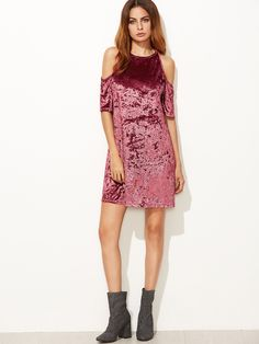 Thanks giving day is coming! You need this Burgundy Velvet Dress to say thank you to anyone you want to say!