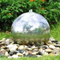 Solar Powered 30cm diameter sphere Water Feature