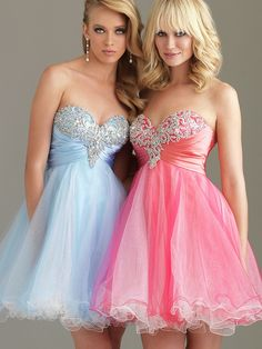 Sweetheart Short Party Gown of Sequined Bust and Tulle Ruffled Skirt on Sale