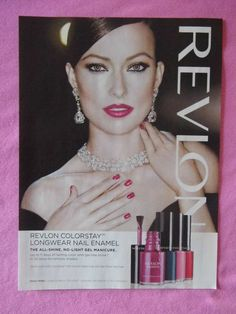 2013 Magazine Advertisement Page Olivia Wilde Revlon Nail Polish Sexy Nice Ad