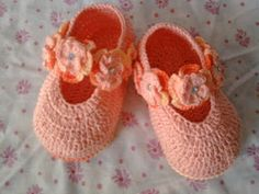 Casa da Salete: Sapatinhos de croche bebe