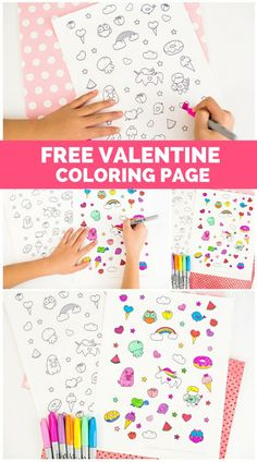 Adorable Free Printable Valentine Coloring Page Kids (and adults) Will Love! This is a great DIY craft idea. Valentine Activities, Valentine Crafts For Kids, My Funny Valentine, Homemade Valentines, Valentine Stuff, Valentine Wreath, Valentine Box, Valentine Ideas, Printable Valentines Coloring Pages