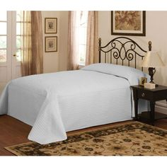 American Traditions French Tile Silver Microfiber King Bedspread Pem America B