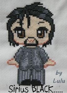 sirius black cross stitch