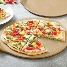 Cool+Veggie+Pizza+-+The+Pampered+Chef® to see more recipes or order Yummy Appetizers, Appetizer Recipes, Chefs, Pizza Recipes, Cooking Recipes, Flatbread Recipes, Sandwich Recipes, Vegan Recipes, Pizza Vegetariana