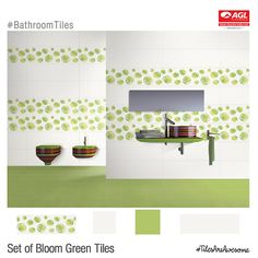 Bathroom Tiles. Bloom Green from AGL. http://aglasiangranito.com/products-7