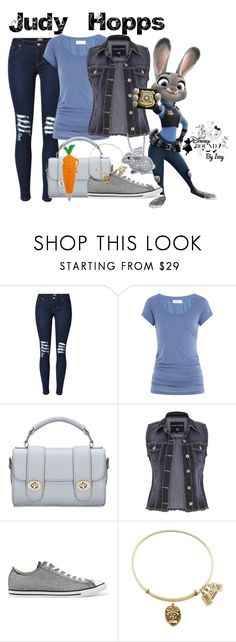 """Judy Hopps"" by childofgod0214 ❤ liked on Polyvore featuring Velvet, Disney, maurices and Converse"