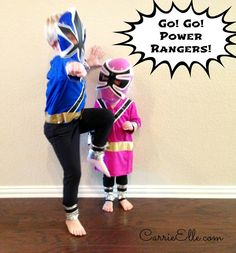 1If your kids are into Power Rangers like mine, let them dress up like one easy via Carrie #powerrangers #halloweencostumes