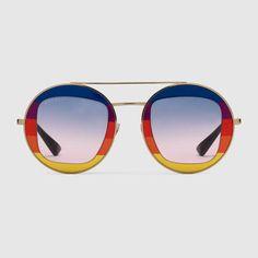 05034d2ee0e GUCCI Round-Frame Metal Sunglasses.  gucci  women s sunglasses Gucci Eyewear
