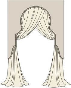 lambrequin window treatment at DuckDuckGo Wooden Cornice, Swags And Tails, Curtain Call, Curtain Trim, Curtain Headings, Drapery Designs, Pelmets, Custom Window Treatments, Arched Windows