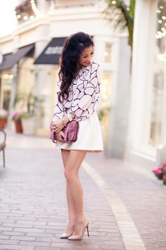 Top by Tucker, skirt by Asos, bag by Proenza Schouler, shoes by Christian Louboutin. (wendyslookbook.com, June 6, 2012)