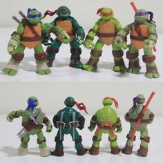 New #teenage #mutant #ninja turtles action figures toys tmnt set of 4 - uk seller,  View more on the LINK: 	http://www.zeppy.io/product/gb/2/141851555331/