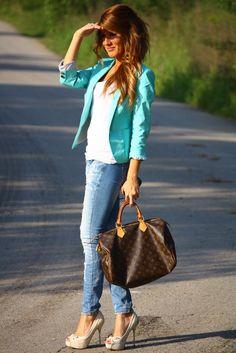 Blazer and purse