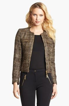 MICHAEL Michael Kors Plaid Tweed Jacket 4 on shopstyle.com