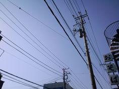 電柱。おそば。