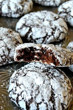 These Chocolate Crinkle Cookies are perfect in every way! Perfectly crackled tops with a crisp edge around the cookie and a fudgy, almost gooey brownie-like interior. So chocolaty!