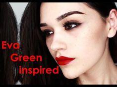 Eva Green inspired makeup - YouTube http://m.youtube.com/watch?v=aLlCmA1-Phw