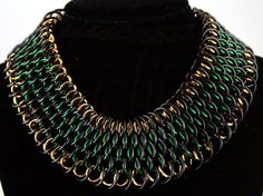 Black, green, and gold dragonscale - Necklaces - Gallery - TheRingLord