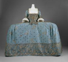 Court mantua ca. 1750 via The Costume Institute of the Metropolitan Museum of Art