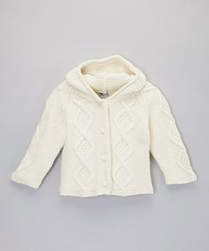 Take a look at this Natural Knit Hoodie Cardigan - Infant & Toddler by fingerprints new york on #zulily today!