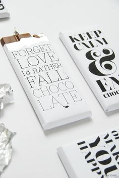 FREE: Chocolate Bar Wrapper Printables - The Style Insider