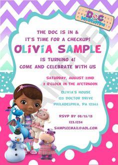 Doc McStuffins 3 Birthday Invitation Digital by CutieTootiePrints, $8.00