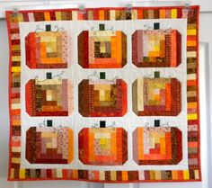 Log cabin pumpkins quilt by dyer804 at Quilting Board