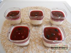 Cheesecake speculoos et coulis fruits rouges (Seb Multi Délices) - Une Faim De Loup ! ! ! Cheesecake Speculoos, Panna Cotta, Pudding, Ethnic Recipes, Drinks, Cooker Recipes, Dulce De Leche, Puddings, Avocado Pudding