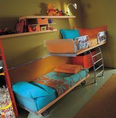 Детская зона для двоих детей в однокомнатной квартире