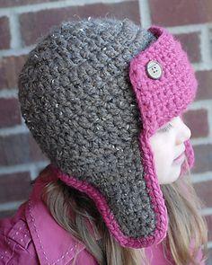 The Bomber Hat Crochet Pattern via Etsy.