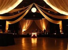 how to decorate wedding space with high ceilings