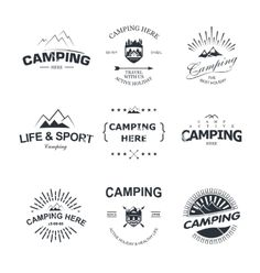 Camping vector labels and logos by Liubou on VectorStock®