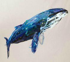 Artist Sayaka Ganz 's animal sculptures are amazing recycled artwork made from scrap metals and plastics. Art Sculpture, Animal Sculptures, Organic Sculpture, Sculpture Ideas, Modern Sculpture, Graffiti Artwork, Whale Art, Ocean Art, Ocean Ocean