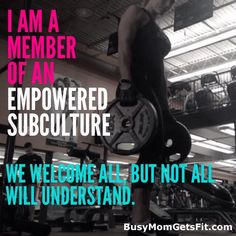So true. I wish people realized the fitspo world isn't intimidating, or judgmental, and they DO welcome all.