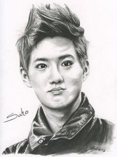Exo Suho .:Fan Art:. by FallThruStardust on deviantART