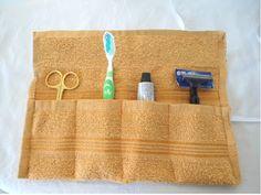 Modelli di cucito per ragazze abiti e gonne: Tessuto dente pattern pennello sacchetto di cucito, bricolage, Easy Travel Pouch