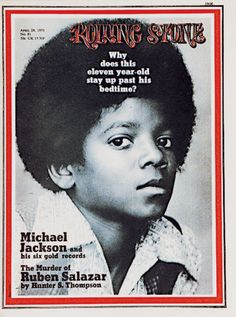 Michael Jackson on the cover of Rolling Stones magazine in 1971 Janet Jackson, Jackson And April, The Jackson Five, Jackson Family, The Rolling Stones, Vanity Fair, Dr Hook, Michael Jackson Poster, Rolling Stone Magazine Cover