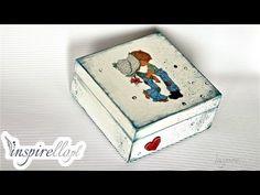 Decoupage krok po kroku - pudełko z Jasiem i Małgosią