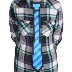 8-Bit Pixelated Tie